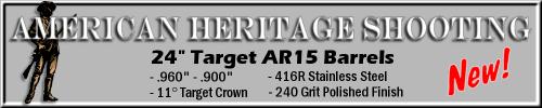 """American Heritage Shooting 24"""" AR-15 Target Barrels"""
